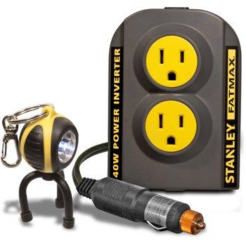 Stanley FatMax 140W Power Inverter with Bonus Keychain LED Light
