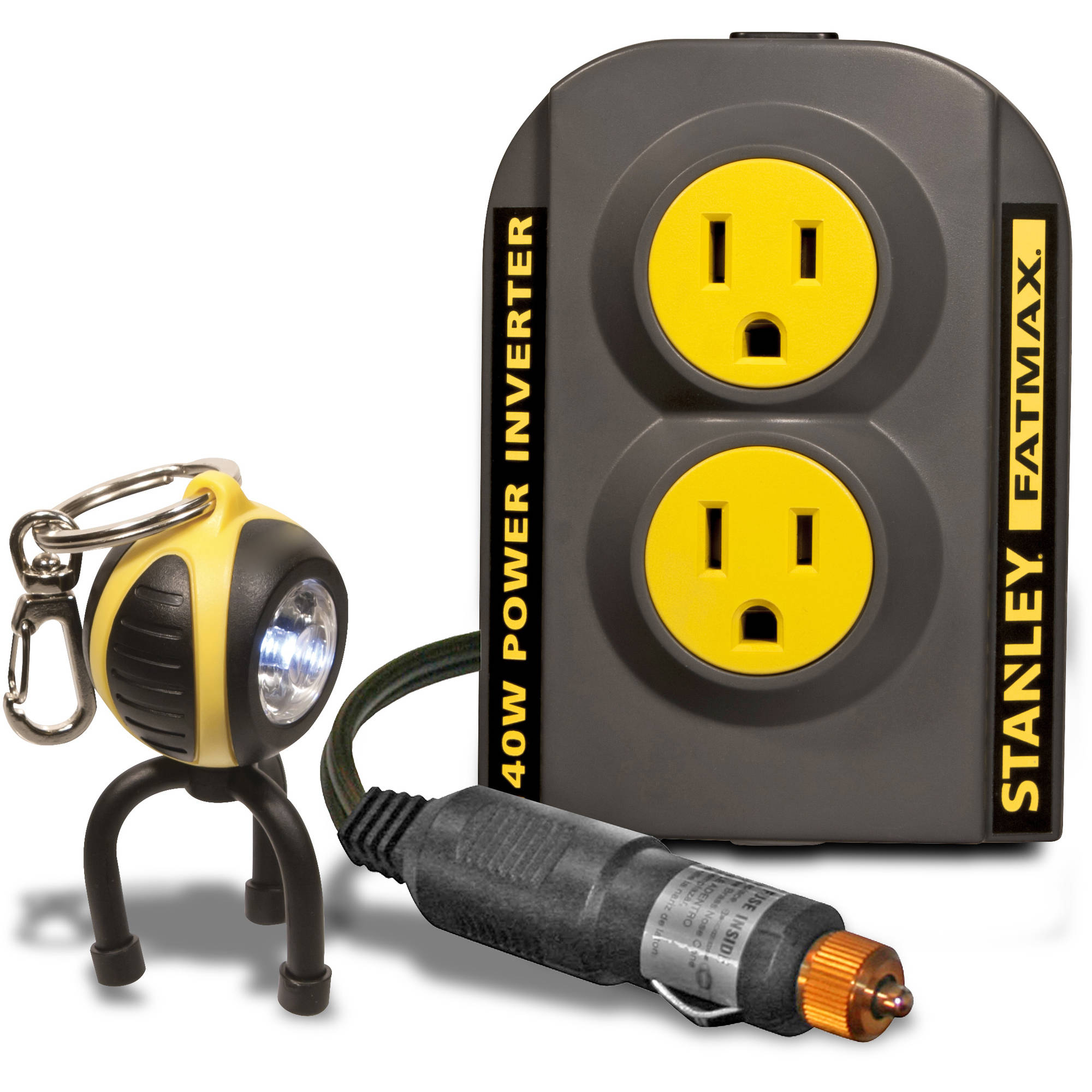 Stanley FatMax 140W Power Inverter with Bonus Keychain LED Light