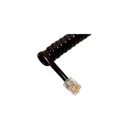 Cablesys Handset Cord Black - For Phone - 6 Ft - 1 Pack - Gloss Black (icc-ichc406fbk)