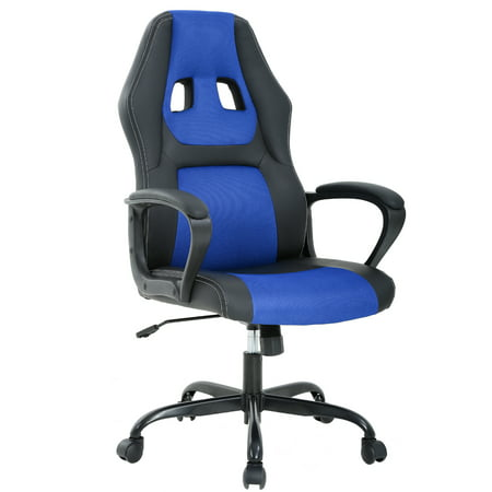 Fantastic Ergonomic Office Chair Cheap Desk Chair Pc Gaming Chair Rolling Pu Leather Swivel Chair Executive Computer Chair Lumbar Support For Women Men Blue Lamtechconsult Wood Chair Design Ideas Lamtechconsultcom