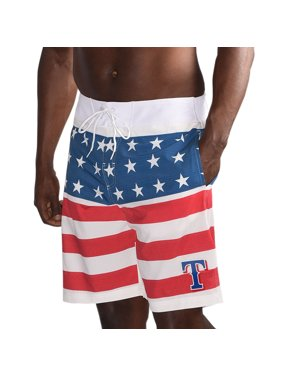Texas Rangers G-III Sports by Carl Banks Armed Forces Patriotic Swim Trunks - Red/Navy