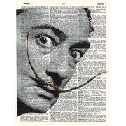 art n wordz salvador dali original dictionary sheet pop art wall or desk art print poster