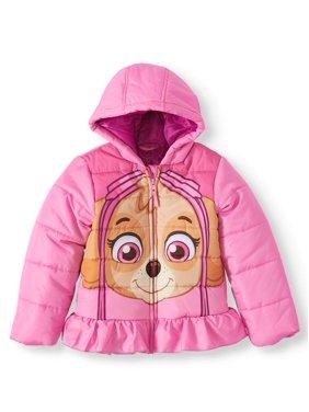 Paw Patrol Skye Ruffle Hem Ski Jacket (Little Girls)
