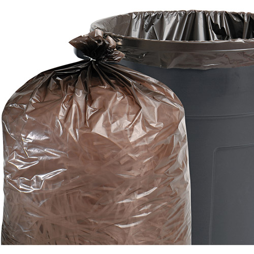 Stout Total Recycled Content Brown Trash Bags, 33 gal, 100 ct