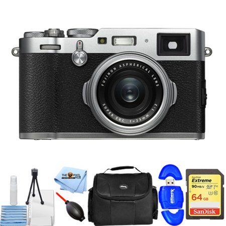 Fujifilm X100F 24.3 MP APS-C Digital Camera (Silver) STARTER BUNDLE