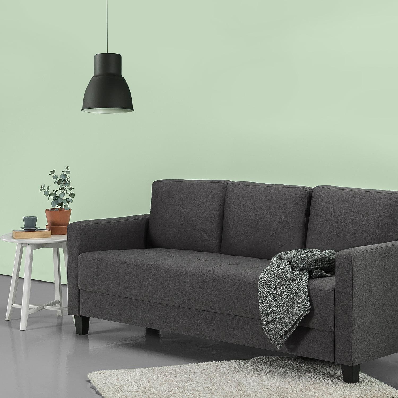 Zinus sunny modern sofa steel grey weave walmart com