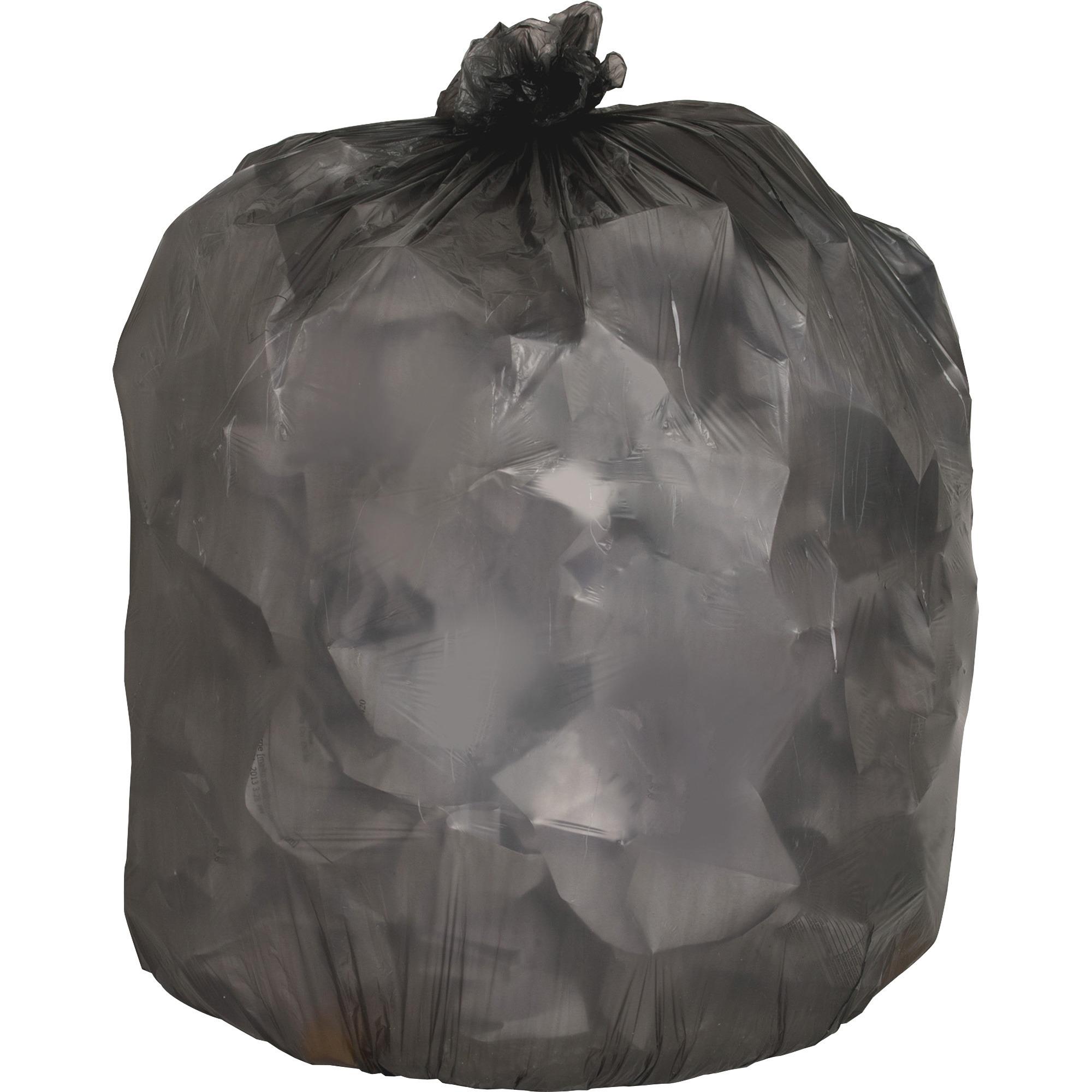 Genuine Joe, GJO70419, Linear Low Density Trash Liners, 250 / Carton, Black, 33 gal