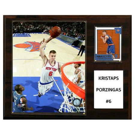 C&I Collectables NBA 12x15 Kristaps Porzingis New York Knicks Player (New York Knicks Locker Room)