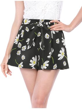 96040f470e Product Image Women's Floral Print Elastic Tie Waist Beach Summer Shorts