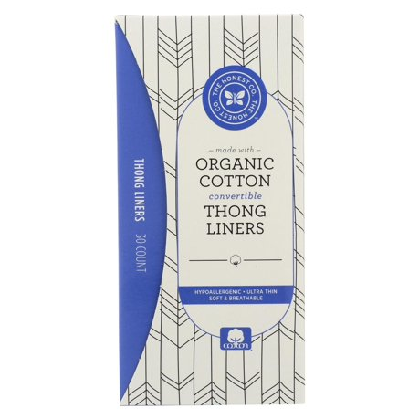 The Honest Company Cotton Liners Thong 30 Count