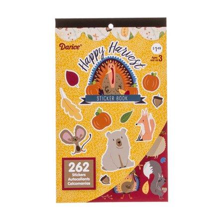 Darice Sticker Book For Kids: Happy Harvest, 262 Stickers