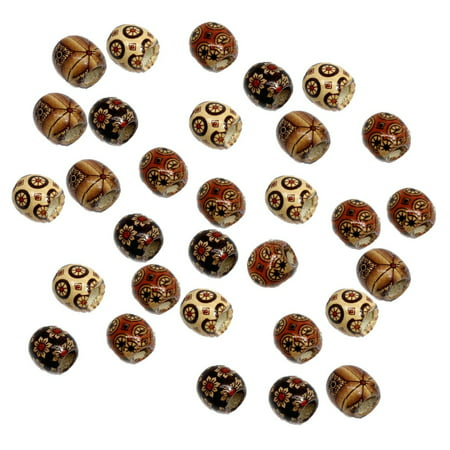 90 Wood Large Hole Macrame, Loose Beads, 16mm Mixed Colors - Joy Large Hole Bead