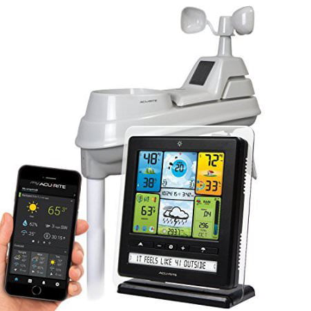 Oak Weather Station (AcuRite 02064 Wireless Weather Station with PC Connect, 5-in-1 Weather Sensor and My AcuRite Remote Monitoring Weather App )