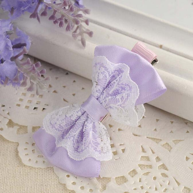 Outtop Cute Lace Bowknot Hair Clips Baby Girl Hairpin Child Hair Accessories PP