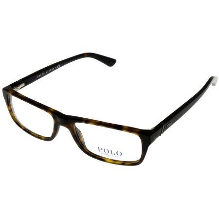 Polo Ralph Lauren Prescription Eyewear Frames Unisex Rectangular Havana PH2104 5182 Size: Lens/ Bridge/ Temple:  - Havana Temple