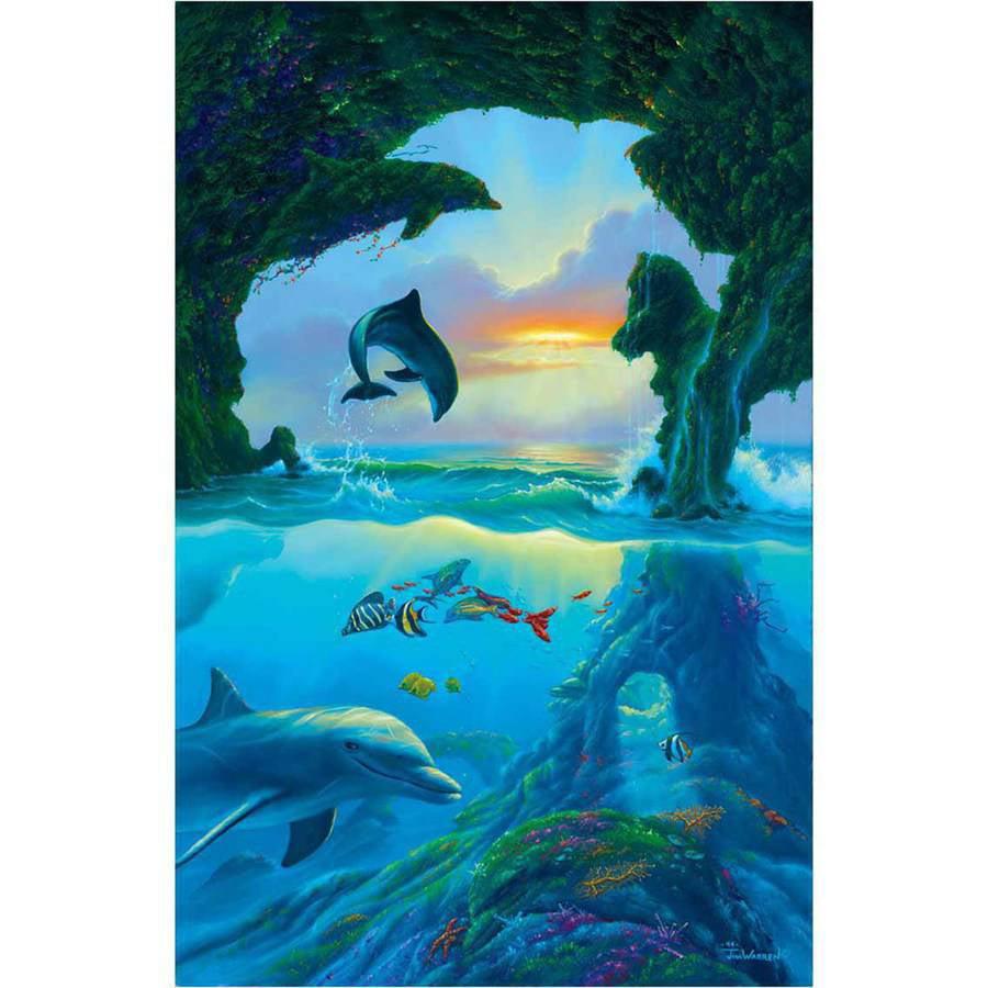 Warren Seven Dolphins Fine Art Reproduction