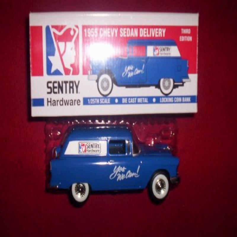 1955 CHEVY SEDAN DELIVERY LIMITED EDITION 1/25 SCALE DIE CAST METAL LOCKING COIN BANK