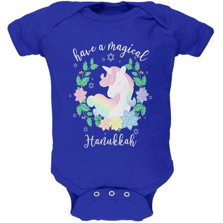 Have a Magical Hanukkah Unicorn Soft Baby One