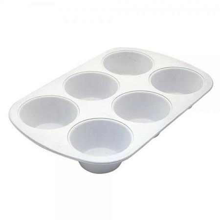 CeramaBake BC6010 Range Kleen 6-Cup Muffin Pan, Jumbo, White (Cerama Bake)