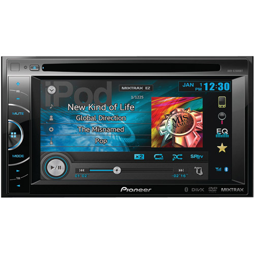 "Pioneer AVH-X2600BT 6.1"" Double-DIN DVD Receiver with Bluetooth, AppRadio and MIXTRAX"