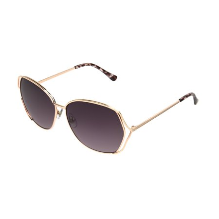 Foster Grant Women's Rose Gold Mirrored Square Sunglasses (Buy Cool Sunglasses Online)