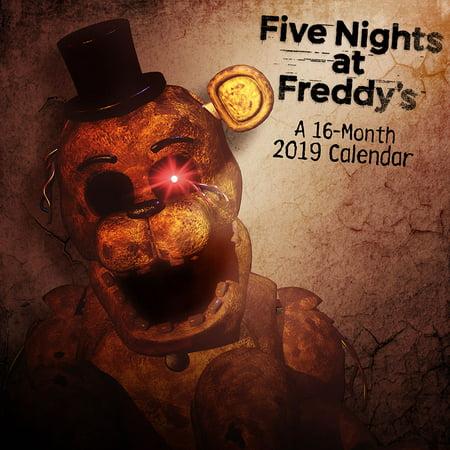 2019 Five Nights at Freddy's Mini Calendar (At A-glance Colored Calendar)