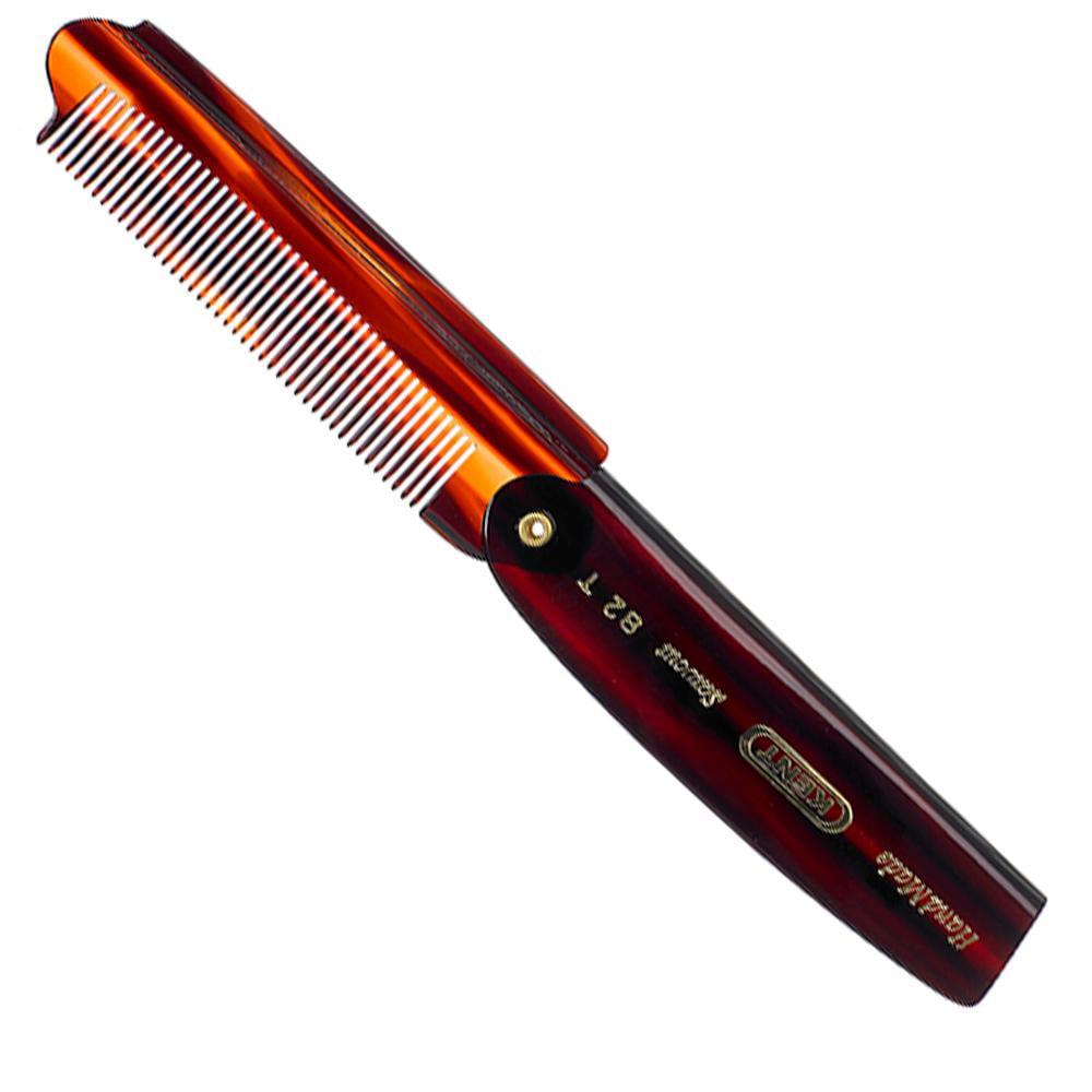 "Kent 82T 4"" 192mm the Hand Made Fine Cut Folding Pocket Comb for Men. Sawcut"