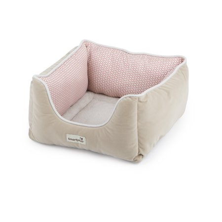 SmartyKat Kitty Canyon Cat Bed, Grey Circles