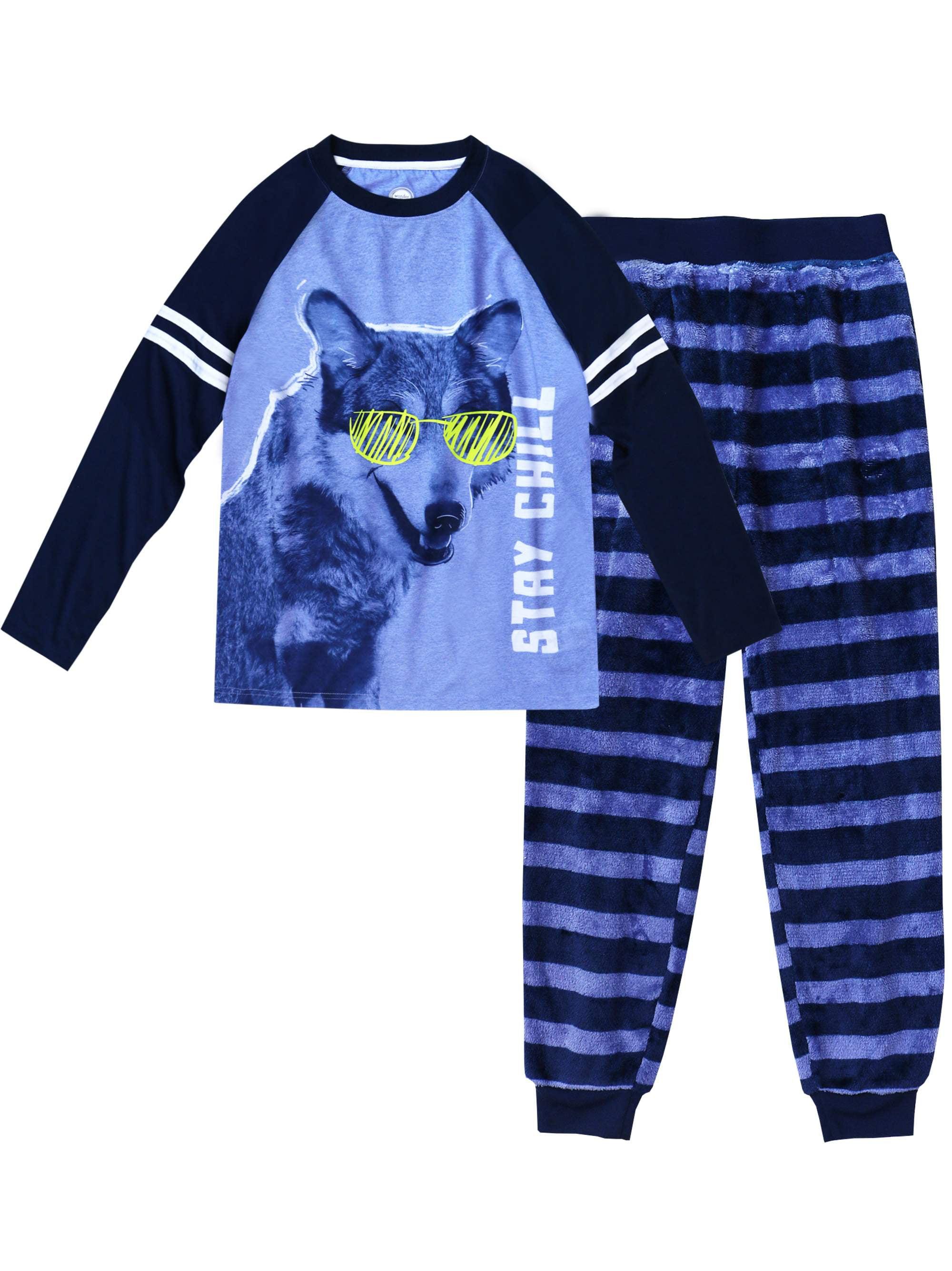 Blue//Green Sleep On It Big Boys 2-Piece Pajamas 12