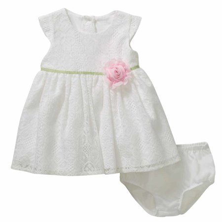 Baby Holiday Dresses (Infant Girls White Lace Easter & Holiday Baby)