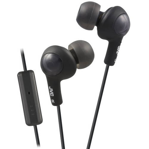 JVC Gummy Plus Inner Ear Headphones with Microphone and Remote