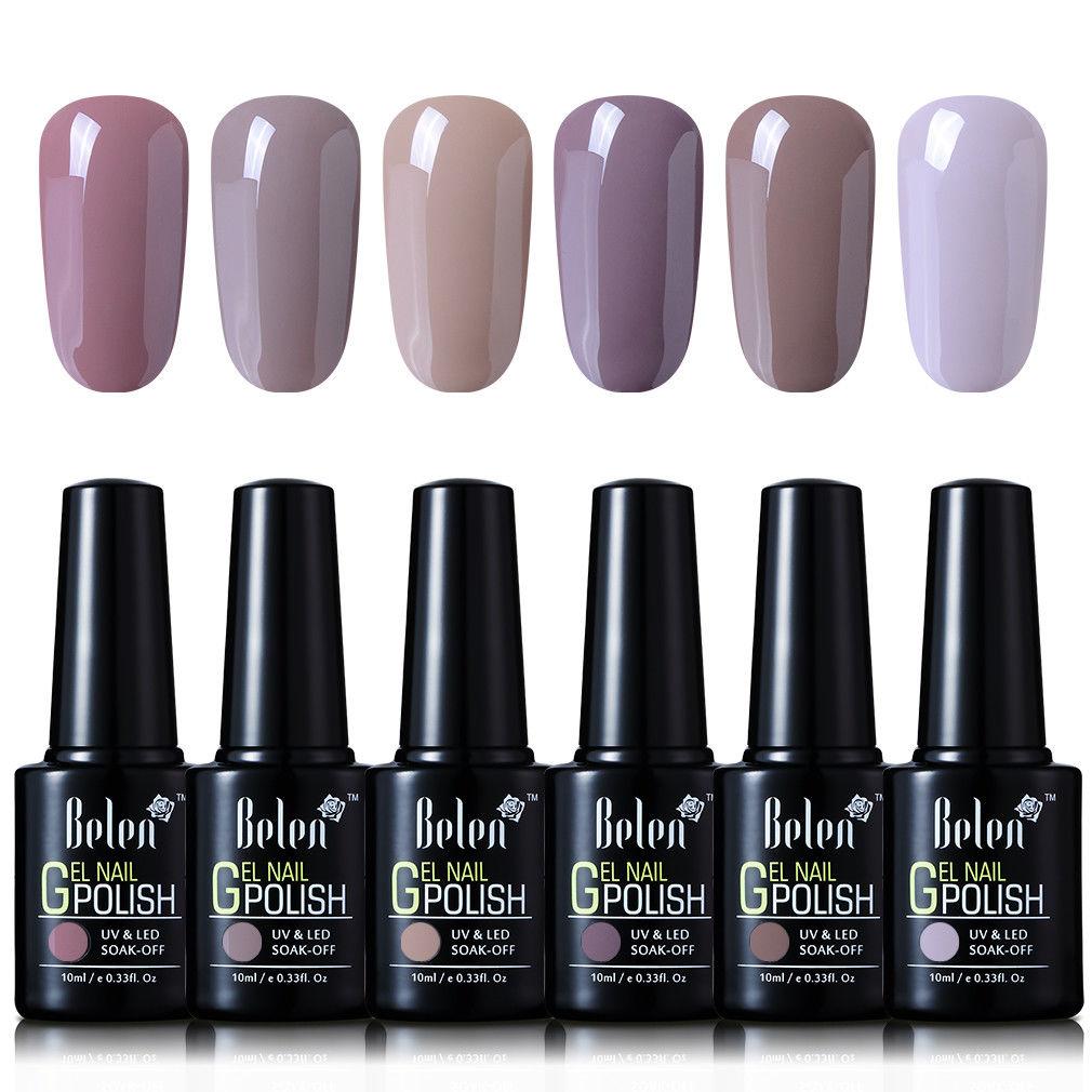 Gel Nail Polish At Walmart: Belen 6 Colors Soak Off Gel Nail Polish UV LED Manicure