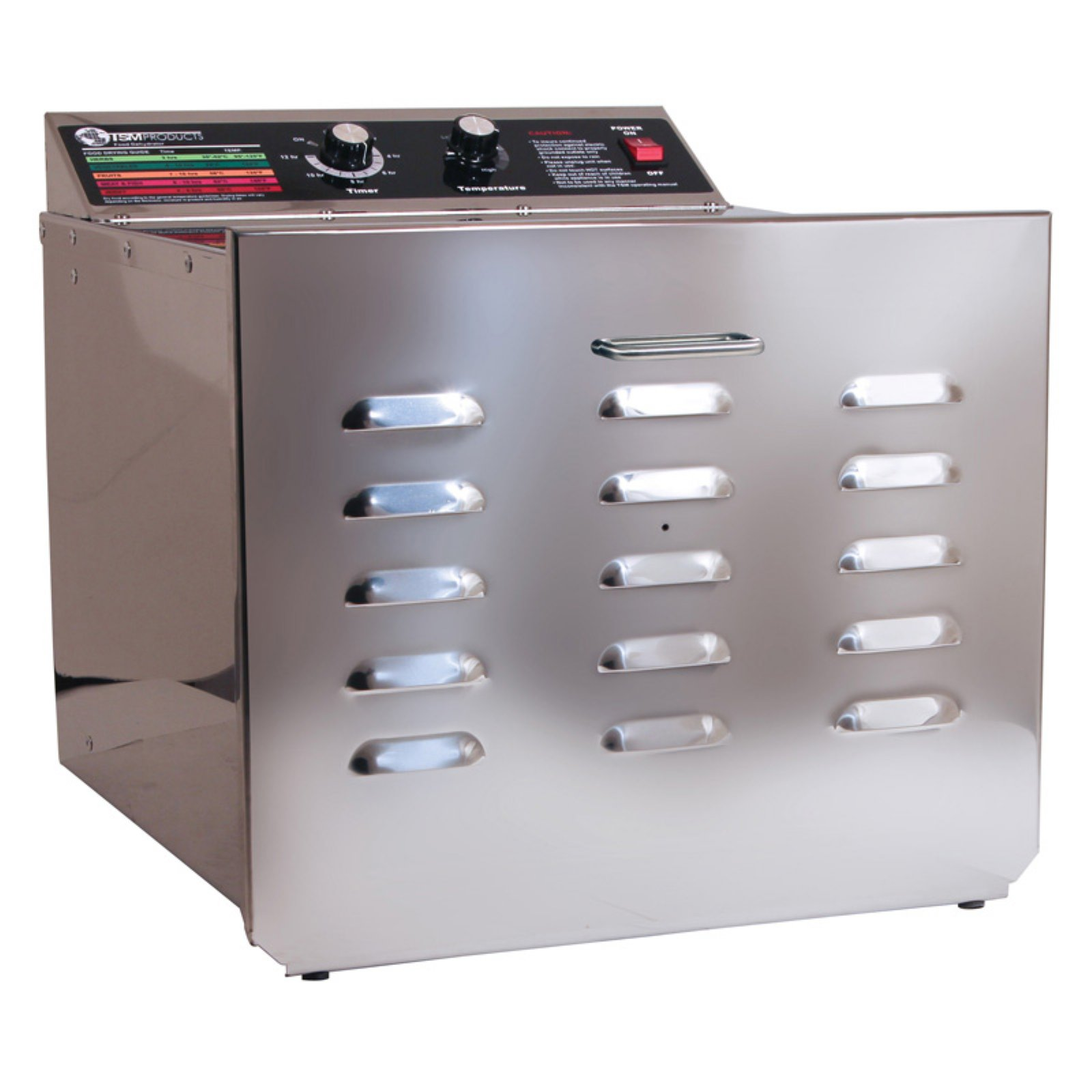 TSM 32609 10 Tray D10 Stainless Steel Dehydrator with Stainless Steel Shelves