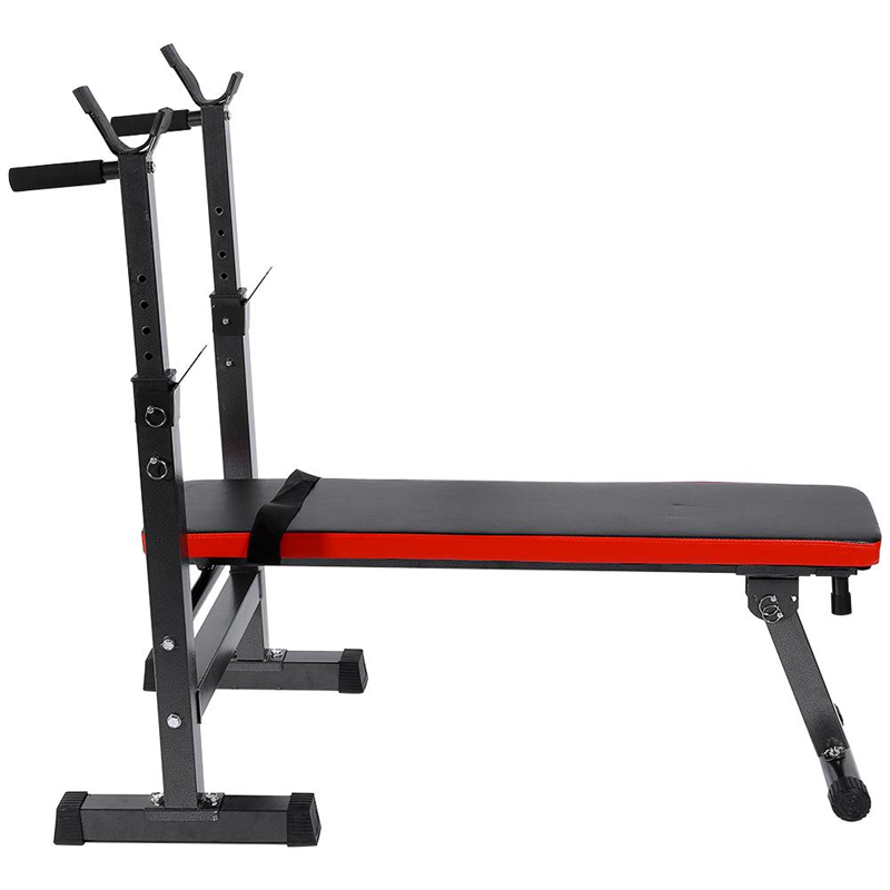 Eecoo lbs adjustable press sit up weight bench barbell home