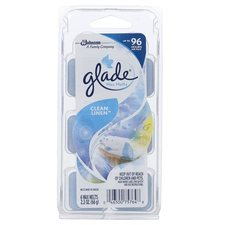 (2 pack) Glade Wax Melts, Clean Linen, 2.3 Oz. (Pack of 6)
