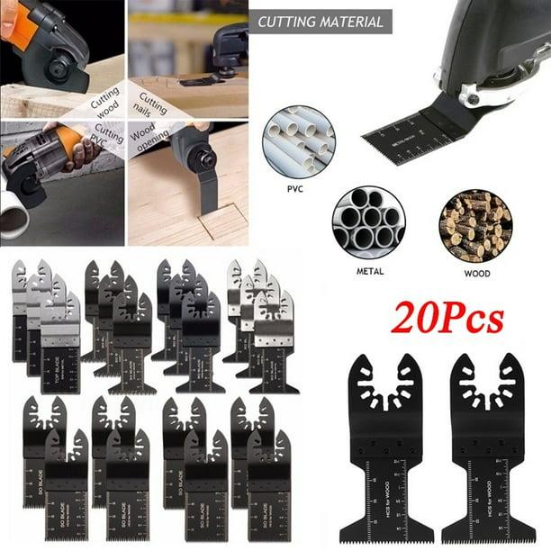20PCS 34mm Oscillating Multi Tool Saw Blades For Fein Makita Bosch Wood Metal US