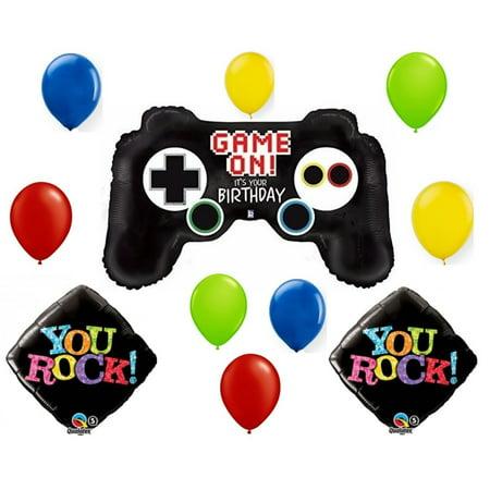 Gamer Kid Birthday Balloon Bouquet by, 1 Super Shape Gamer Control Foil Balloon By Anagram