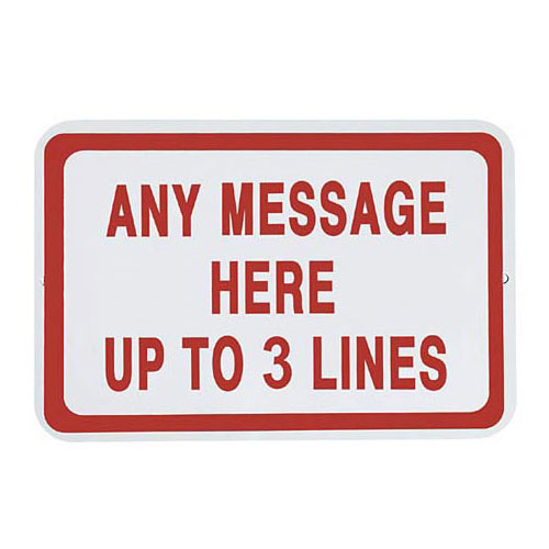 Personalized Horizontal Parking Sign