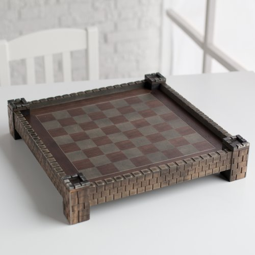 Fortress 17.5 in. Chess Board with Castle Corners
