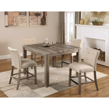 Best Master Furniture Hadley 5 Piece Counter Height Dining Table