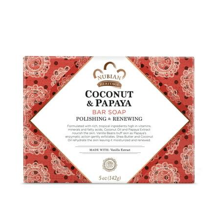 Nubian Heritage Coconut & Papaya Bar Soap 5 oz