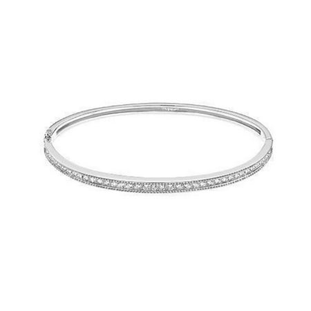 Harry Chad Enterprises 23716 3.5 CT Round Diamond F VS2 Bangle Solid - 14K White Gold - image 1 de 1
