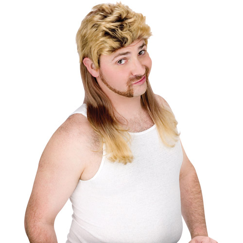 Super Mullet Wig Adult Halloween Accessory