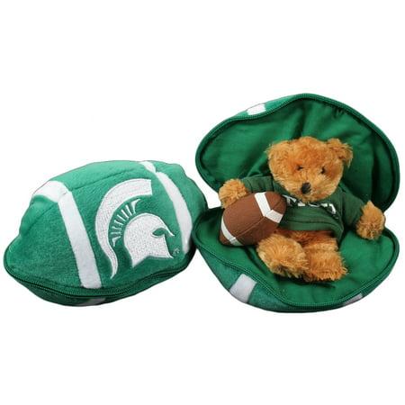Michigan State Spartans Stuffed Bear In A Ball   Football