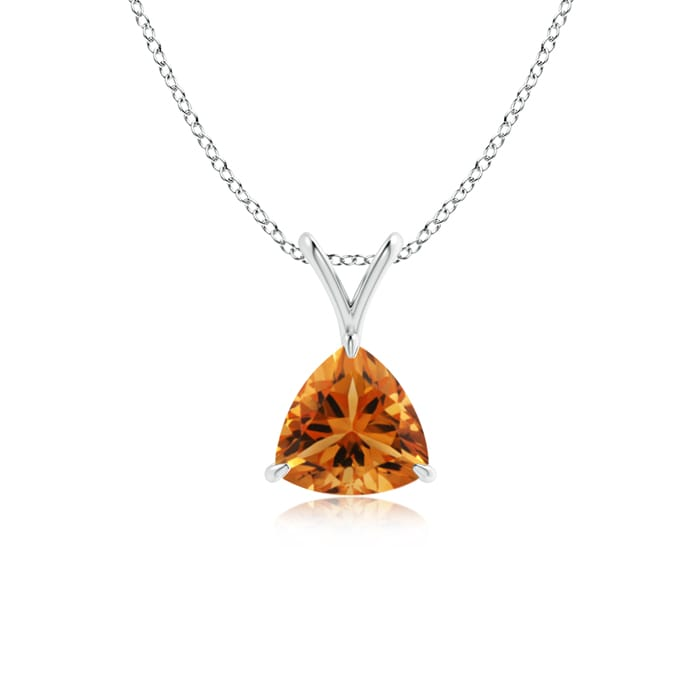 Angara Solitaire Citrine Pendant for Women in White Gold 65EGS