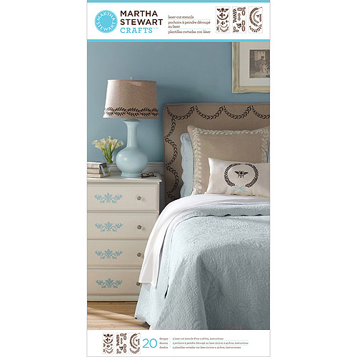 "Martha Stewart Large Stencils 3 Sheets/pkg, Classic Accents 8, 3/4"" x 16, 3/4"" 20 Design"