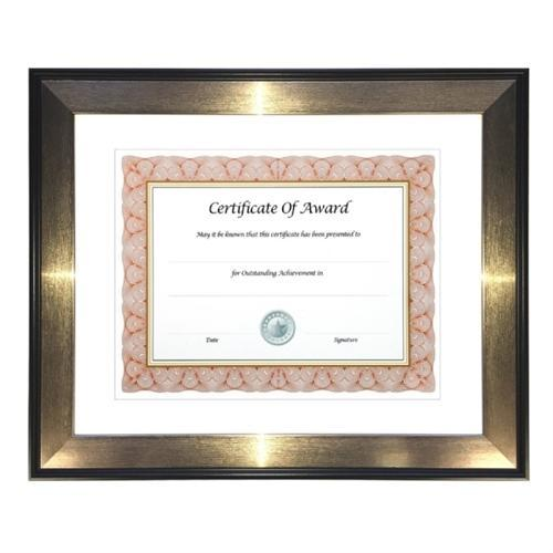 Glolite Nudell Director Series Document and Photo Frame, 8 1/2 x 11, Mahogany/Silver Frame 15151