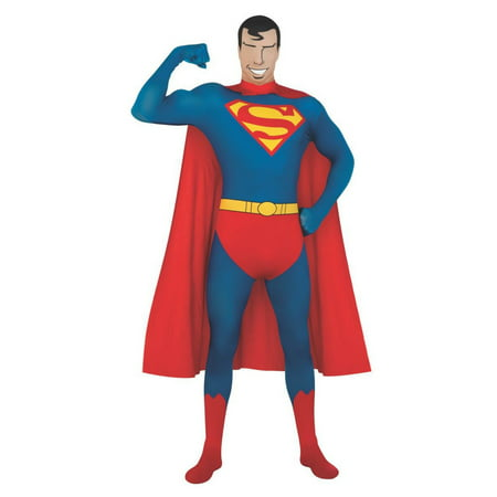 Halloween DC Comics 2nd Skin Superman Adult Costume (Halloween Drink Specials Dc)
