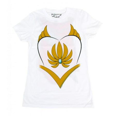 He-Man She-Ra Costume White Juniors T-Shirt