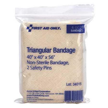 FIRST AID ONLY Triangular Bandage,Muslin Blend 4-002BG